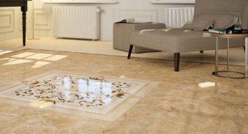 marble with texture tile flooring ideas for living room