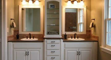 master bathroom lighting ideas with twins wash basin