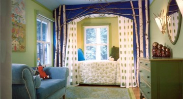medieval blue teenage girl curtain designs