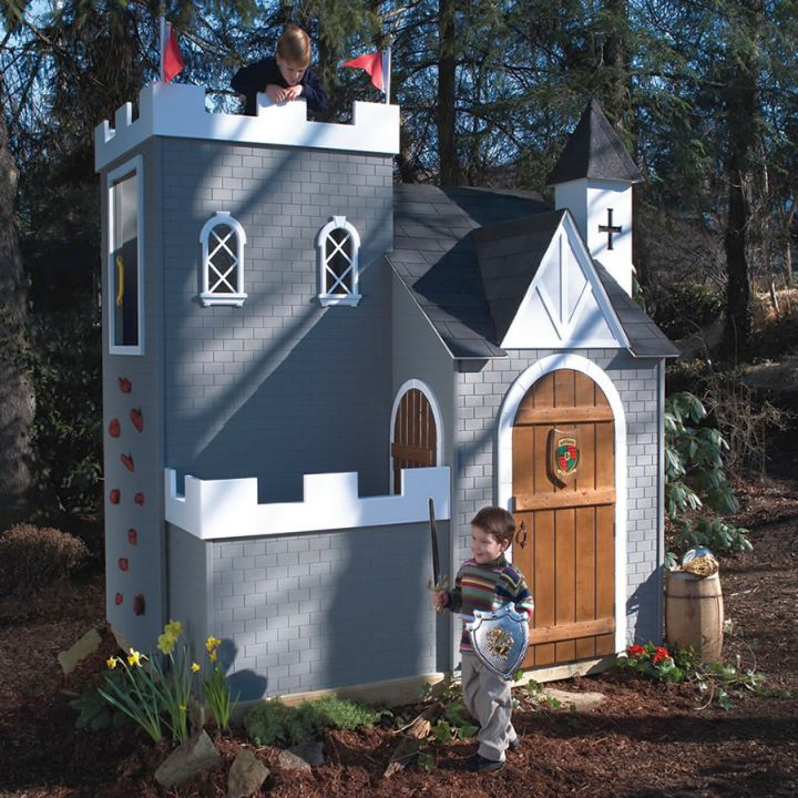 middle century castle luxury outdoor playhouse