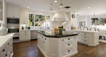 mini pendant lights over kitchen island for high ceiling