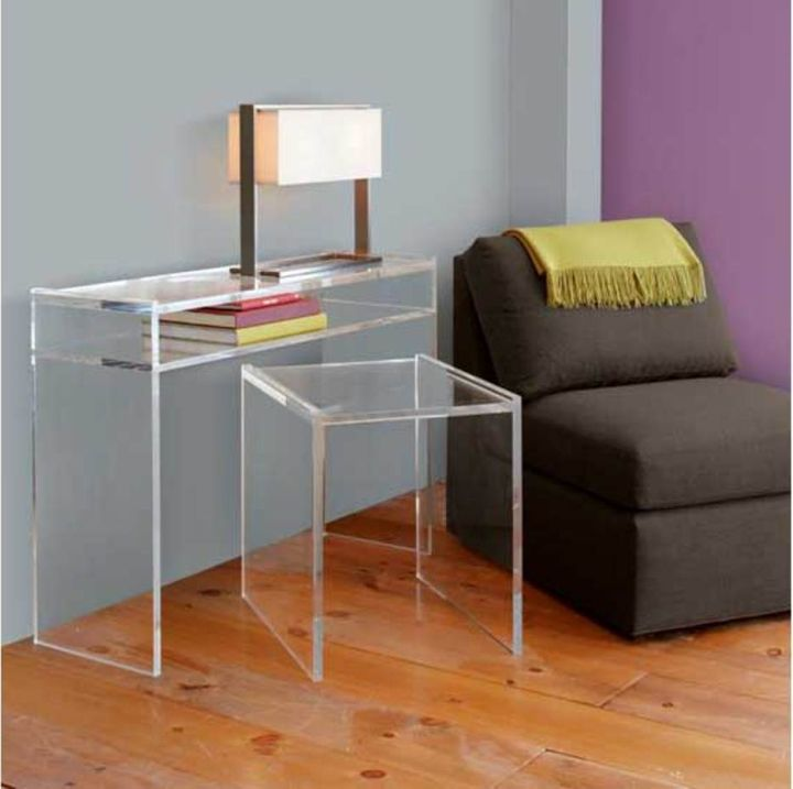 Gallery For Sleek Acrylic Computer Desk Designs