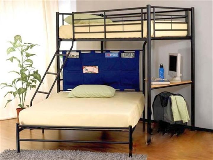 minimalist adult loft bed with stairs