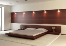 minimalist and bare bedroom wall panel design ideas