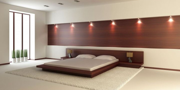 minimalist and bare bedroom wall panel design ideas