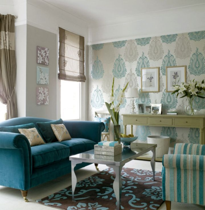 Gallery For Blue And Brown Living Room Designs