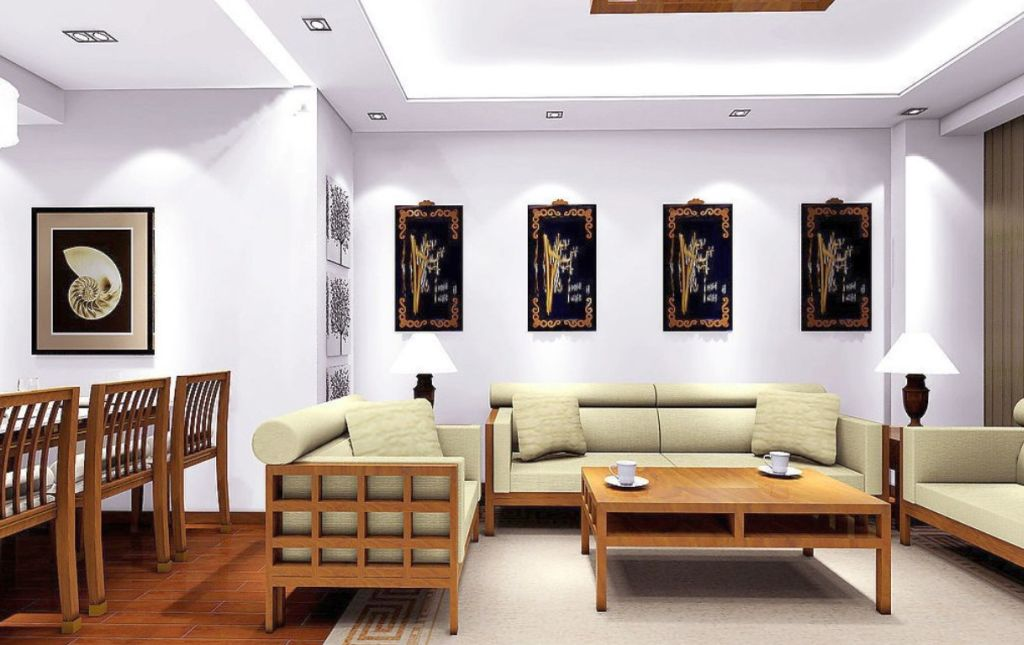 Minimalist ceiling design ideas for living room in small space for Small room minimalist design