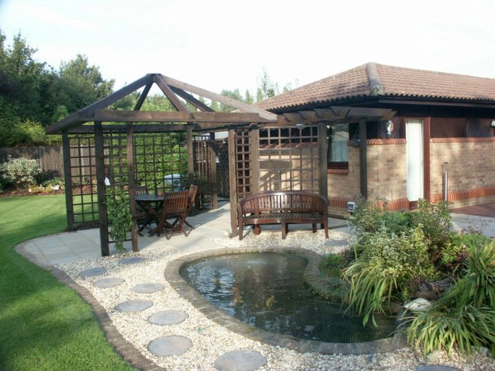 Backyard With Pergola minimalist contemporary japanese style backyard with pergola