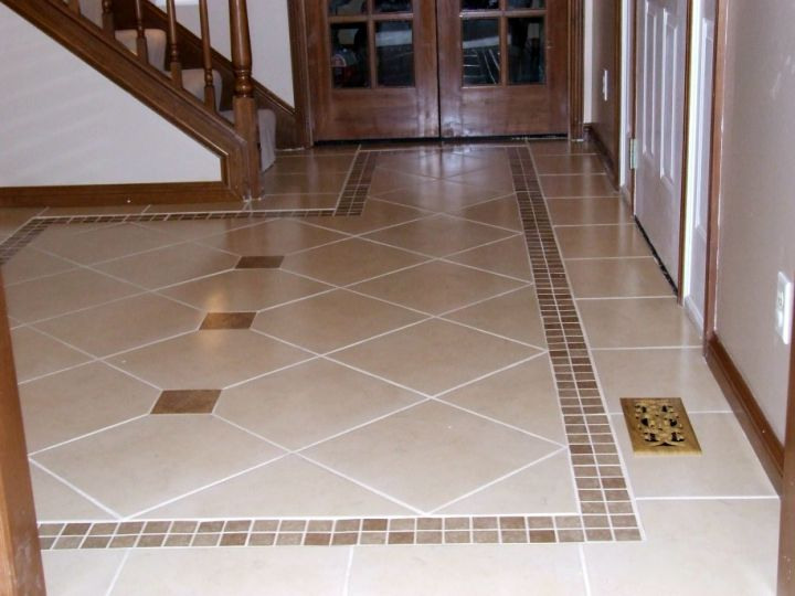 minimalist cream colored tile flooring ideas for living room