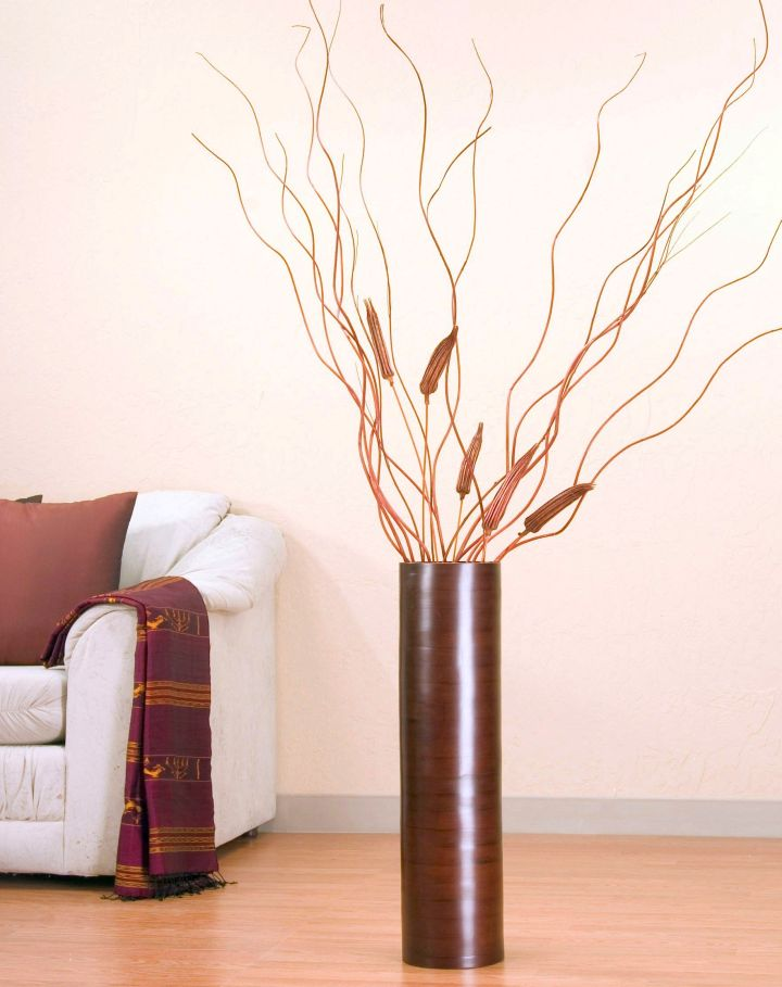 minimalist floor vase with branches