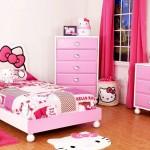minimalist hello kity girls bedroom designs