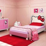 minimalist hello kity girls bedroom designs with hello kitty mirror