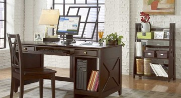 minimalist home office design ideas for small spaces with dark woods
