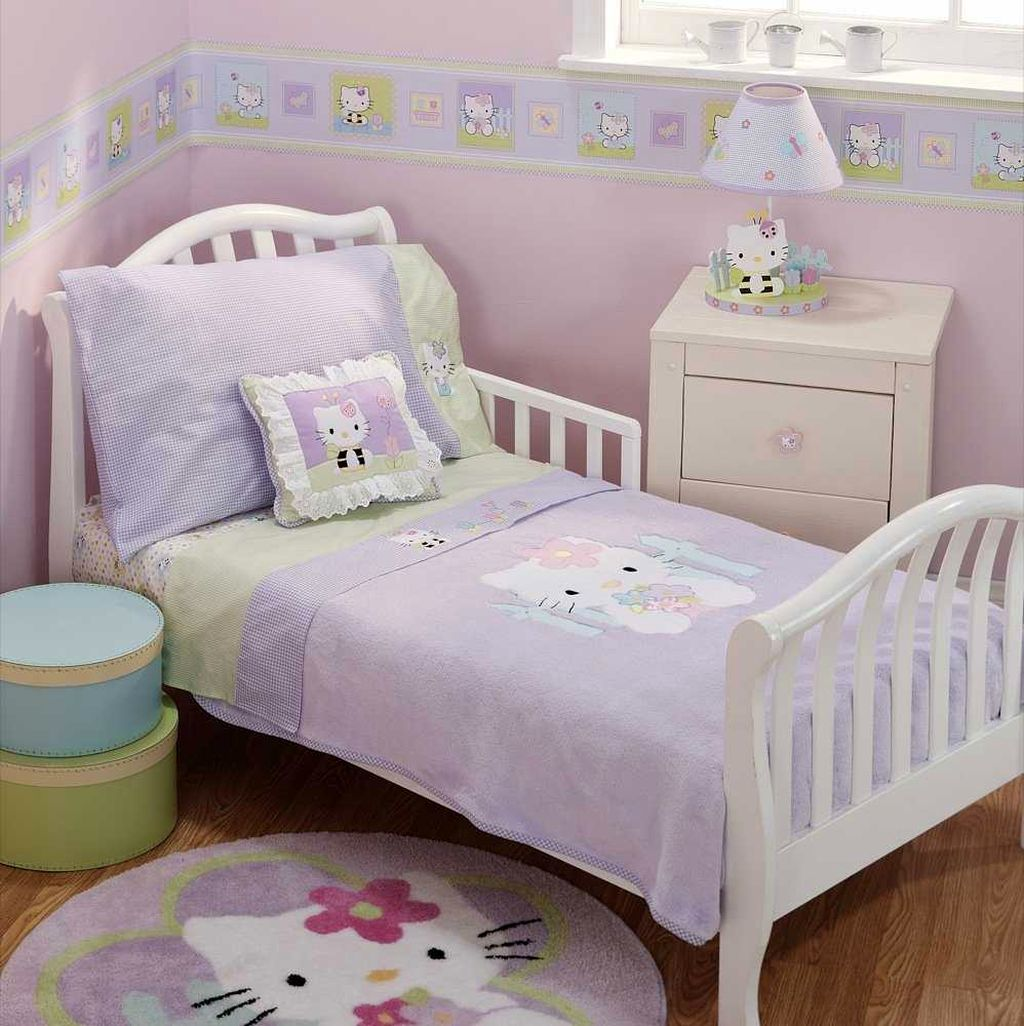 Bedroom Ideas Hello Kitty Soft Bedroom Colors Childrens Turquoise Bedroom Accessories Bedroom Decorating Ideas Gray And Purple: 20 Cutest Hello Kitty Girls Bedroom Designs And Decorations