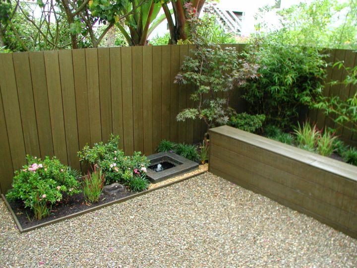 minimalist japanese style backyard