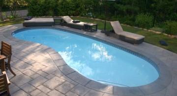 minimalist kidney shaped swimming pools
