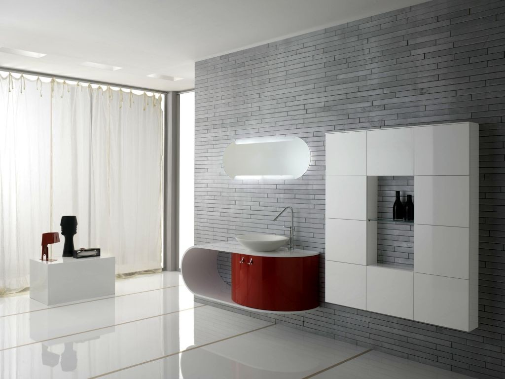minimalist modern furniture for spacious bathroom