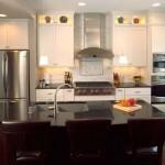 minimalist modern kitchen island with sink