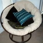 minimalist modern papasan chair