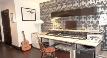 minimalist music room designs