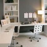 minimalist office furniture for small corner room