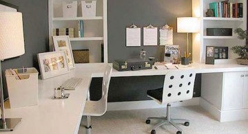 minimalist office furniture for small corner room