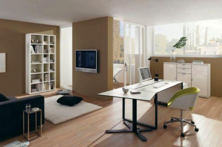 minimalist sleek office desk