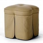 minimalist vanity chair with skirt