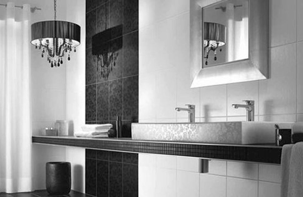 20 bewitching modern black bathrooms ideas for Black bathroom designs