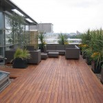 minimalistic modern deck design good for small garden