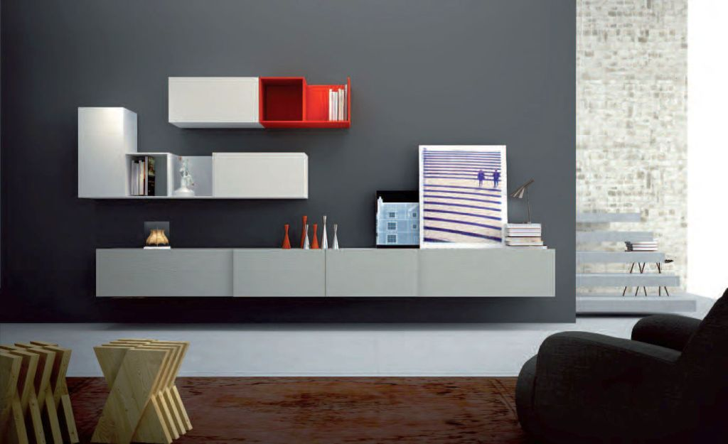 Minimalistic wall shelving units for living room - Living room wall shelf ...