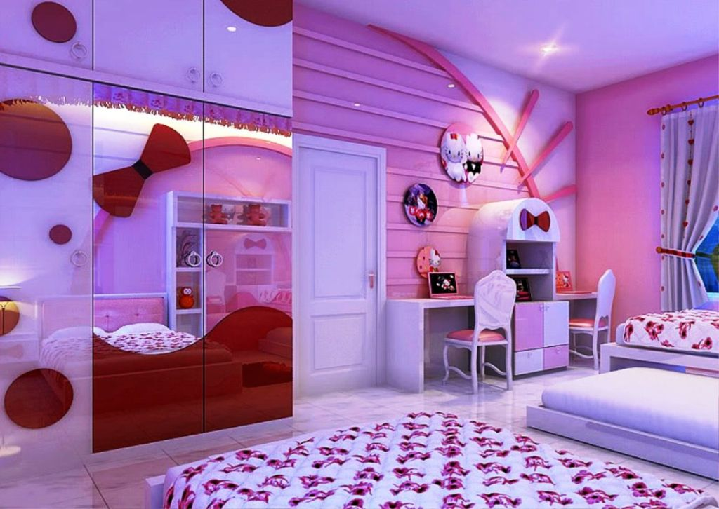 gallery for hello kitty girls bedroom designs20 cutest hello kitty girls bedroom designs and decorations. beautiful ideas. Home Design Ideas
