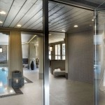 modern and glassy indoor swimming pool designs