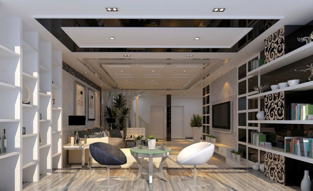 Modern and minimalist ceiling design ideas for living room - Interior design ceiling living room ...