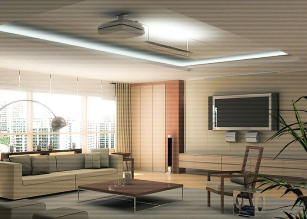 Modern ceiling design ideas for living room for Modern living room design ideas 2015