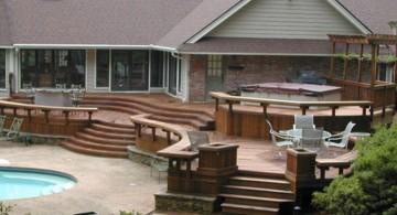 modern deck design for bigger houses
