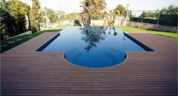 modern deck design for poolside