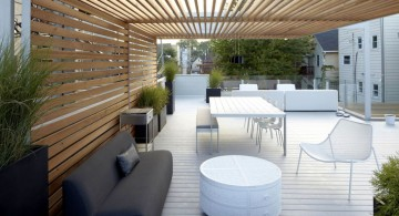 modern deck design for the small corner