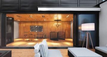 modern deck design in monochrome