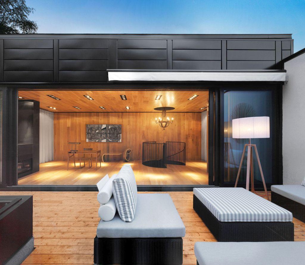 modern house oof deck designs urora oofing ontractors - Rooftop Deck Design Ideas