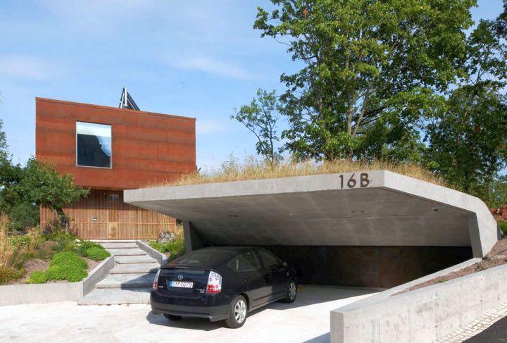 modern garage designs and inspiration for hillside houses
