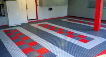 modern garage designs and inspiration in grey and red