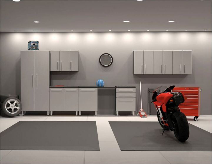 modern garage designs and inspiration in industrial grey