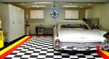 modern garage designs and inspiration with checkered tiles