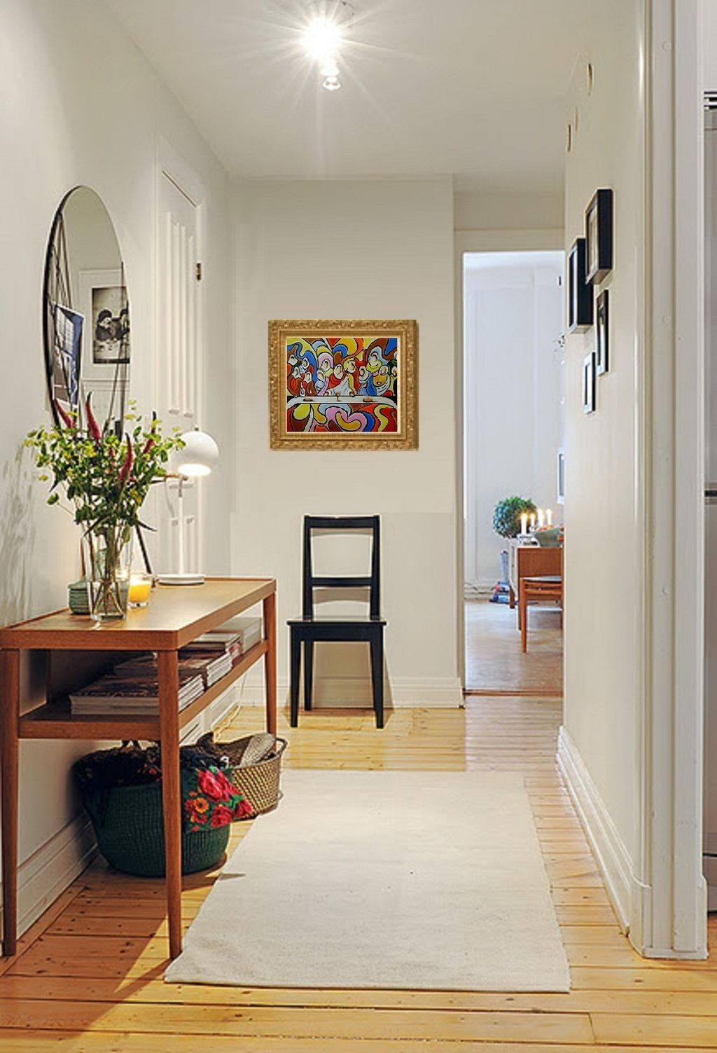 19 nifty modern hallway decorating ideas you will love for Apartment foyer ideas