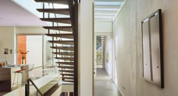 modern hallway decorating ideas for small space and contemporary staircase