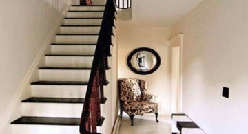 modern hallway decorating ideas in black and white