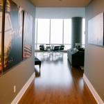 modern hallway decorating ideas with contemporary visual arts