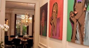modern hallway decorating ideas with paintings