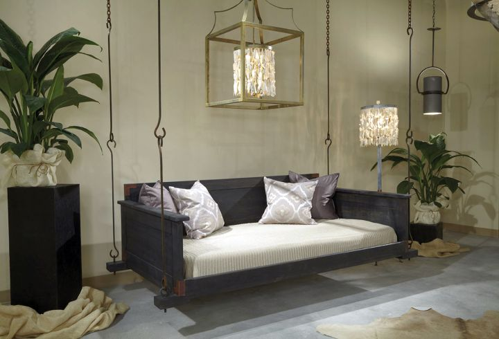 18 homely hanging bed designs that will swing you to sleep for Hanging bed indoor